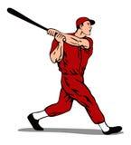slå för basebollspelare Arkivbild