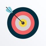 Slå för pilar Fotografering för Bildbyråer