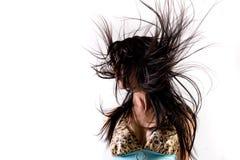 slå hår Fotografering för Bildbyråer
