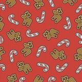 slå in sömlös textur för torkduken för jul eller nytt år Royaltyfri Foto