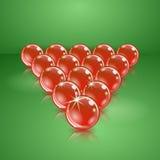 Slå samman, eller billiard klumpa ihop sig gjort av exponeringsglas. Royaltyfri Bild