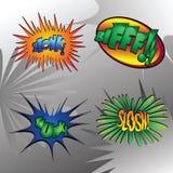 slå superhero 7 royaltyfri illustrationer
