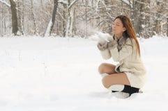 slående snow Royaltyfria Foton