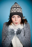 slående snow Royaltyfria Bilder