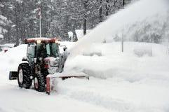 slående snowtraktor Royaltyfri Bild