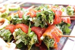 slågen in meatgrönsak Royaltyfri Foto