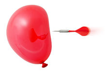 slågen red för ballong pil till Fotografering för Bildbyråer