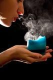 slåget stearinljus av Fotografering för Bildbyråer