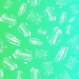 Slår den sömlösa modellen för vektorungen med borsten och prickar Vit färg på bakgrund för gräsplanblåttlutning Målad hand Arkivfoton