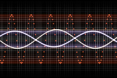 slår futuristic musikduns Arkivbild