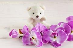 slår ut orchidpink greeting lyckligt nytt år för 2007 kort Arkivbild