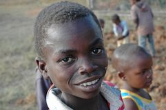 Slåss den första hungerorsaken av barndödlighet i Afrika 003 Arkivbilder