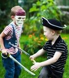 slåss för bröder Royaltyfri Foto