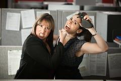 Slåss för kontorsarbetare Arkivfoto