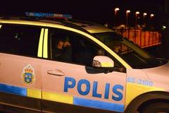 Slåss i armod slågna områden i Sverige royaltyfria bilder