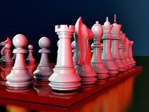 slåss schacket Arkivbild