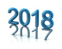 Slösa 2018 år nummer föregående årnumret som trycker på på pet Arkivfoton