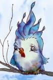 Slösa fågeln Royaltyfri Illustrationer