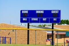 Baseballfunktionskort Fotografering för Bildbyråer