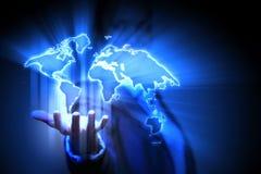 Den globala affären knyter kontakt Arkivfoto