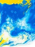 Slösa och gulna den idérika abstrakta handen målad bakgrund, marbl royaltyfri illustrationer