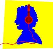 Headphone på Fotografering för Bildbyråer