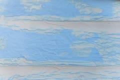 Slösad blå trävägg royaltyfri fotografi