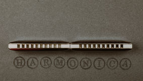 slösar diatonic munspel arkivbilder