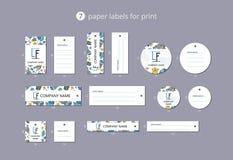 Slösar pappers- klädetiketter för vektorn för tryck med modellen manet Fotografering för Bildbyråer