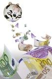 Slösning av pengar arkivbilder