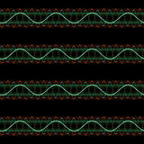 Sl sound wave pattern Stock Images