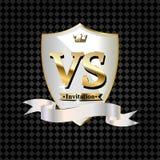 Sl?ss vs matchen, det modiga begreppet som ?r konkurrenskraftigt vs royaltyfri illustrationer