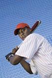 Slå till för basebollspelare Arkivbild