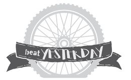 Sla gisteren fietswiel royalty-vrije illustratie
