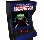 Sla Onrechtvaardigheid veroveren Oneerlijke Rechtvaardigheid System Video Game Royalty-vrije Stock Afbeelding