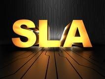 SLA - Service-level agreement Stock Photo