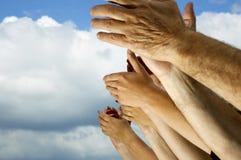 Sla uw handen! royalty-vrije stock afbeelding