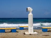 Slaaf Statue Views rond Otrobanda Stock Foto's