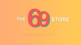 69 slaan de speciale promotie grafische illustratie van de verkoopachtergrond op Royalty-vrije Stock Foto's