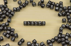Slaap als symbool Stock Foto