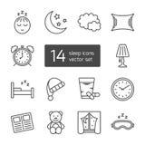Slaap dun gevoerd pictogram Royalty-vrije Stock Foto's