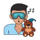 Slaap en rust beeldverhalen vector illustratie