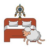 Slaap en rust beeldverhalen stock illustratie