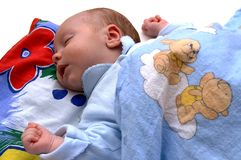 Slaap pasgeboren baby Royalty-vrije Stock Foto's