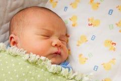 Slaap pasgeboren baby royalty-vrije stock fotografie