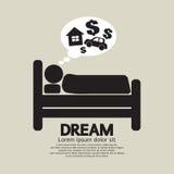 Slaap Person Symbol Royalty-vrije Stock Afbeeldingen