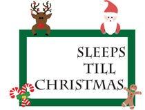 Slaap Till Christmas Stock Foto's