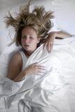 In slaap vrouw stock afbeelding