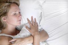 In slaap vrouw royalty-vrije stock afbeeldingen