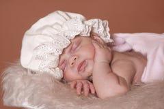 Slaapbaby royalty-vrije stock foto's